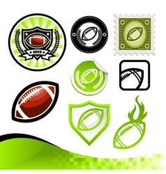 American Football Design Kit vector image