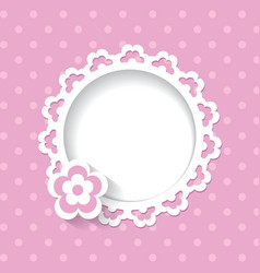Lacy frame on the pink background vector image