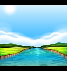 A flowing river vector image