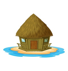 Bungalow on island vector