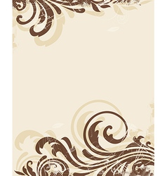 Decorative vintage floral background vector image