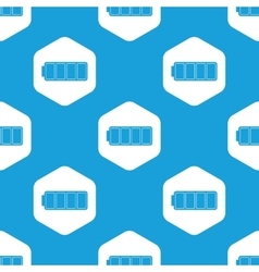 Full battery hexagon pattern vector