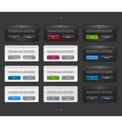 Set of colored panels vector