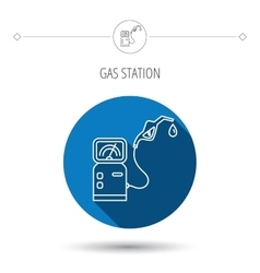 Gas station icon petrol fuel pump sign vector