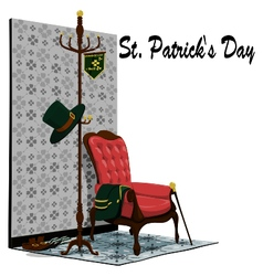 Accessories of st patricks day in the room vector
