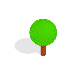 Spherical tree icon isometric 3d style vector