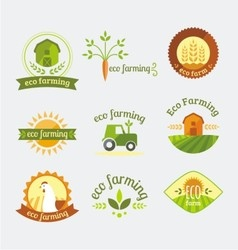 Variety of farm logotypes vector