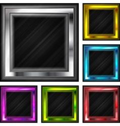 Glossy frames vector