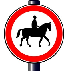 Horse and rider sign vector