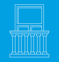 Balcony in classic style icon outline style vector