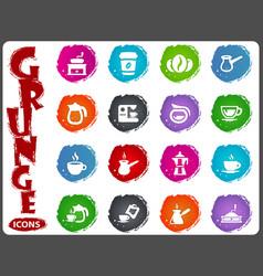 coffee icons set vector image