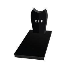 gravestone in black vector image