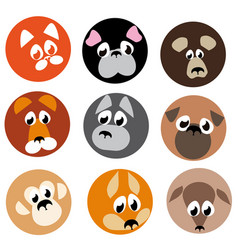 Image animal beasts icons vector