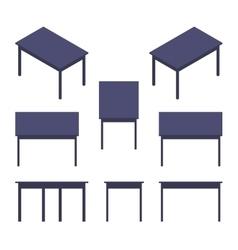 Isometric black table vector