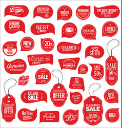 Modern sale stickers collection 1 vector