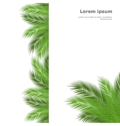 palm template vector image