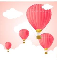 Pink hot air card vector