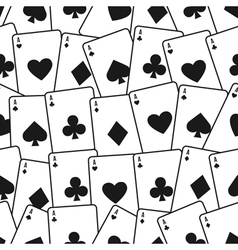 Playing cards seamless background pattern vector image