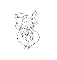 portrait of dog in santa hat vector image vector image