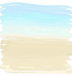 sand and ocean vector image vector image