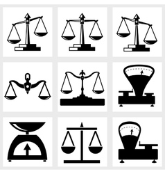Scales icon vector