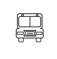 school bus icon vector image