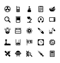 Science and technology glyph icons 13 vector