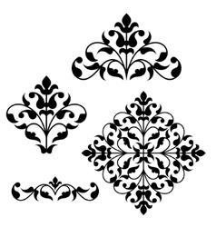 Set of ornamental floral elements for design vector image vector image