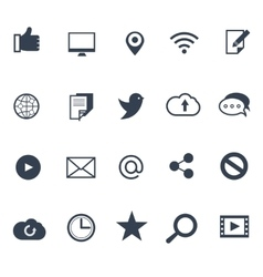Social media and network icons set vector image