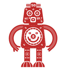 Stand up robot vector