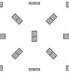 Steel door pattern seamless black vector