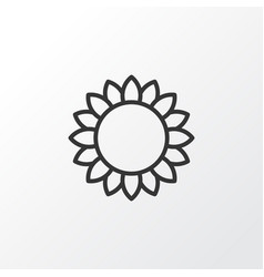 sunflower icon symbol premium quality isolated vector image vector image