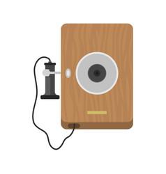 telephone vintage icon vector image