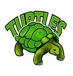 Turtles logo vector