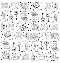 Music tool doodles set vector