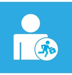 Silhouette man with paramedic first aid graphic vector
