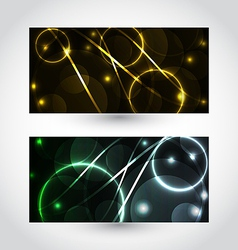 Set of abstract futuristic cards vector