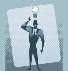 businessman with idea vector image