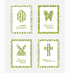 Easter gift cards vector