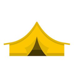 Yellow tourist tent icon isolated vector