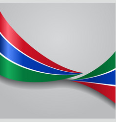 gambian wavy flag vector image