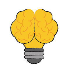 Creative bulb brain idea vector