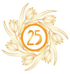 25th anniversary banner vector image