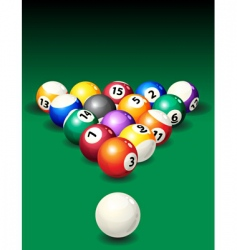 Pool table vector