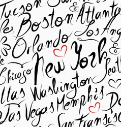 Travel usa destination cities seamless pattern vector