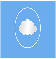 White cloud circle vector