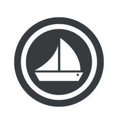 Round black ship sign vector