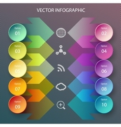 Circles and arrows infographic vector