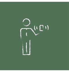Mobility icon drawn in chalk vector