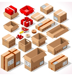 Packaging 01 objects isometric vector